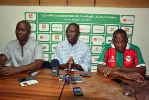 Sory Diabaté (au centre), président de la ligue professionnelle.Ph.Dr