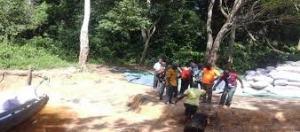 Saisie de cacao frauduleux d'une valeur de 40 millions à la frontière libérienne.Ph.Dr