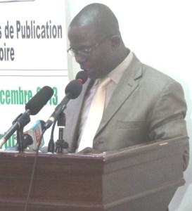 Tra Bi Charles Lambert, Président du Forum des directeurs de publication de Côte d'Ivoire.