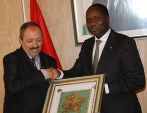 Le ministre de l'Agriculture et du Développement rural, Mamadou Sangafowa Coulibaly et son homologue Tunisien Saad Seddik, ministre de l'Agriculture, des Ressources en eau et de la Pêche.Ph.Dr