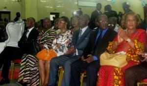 Une vue des personnalités présentes au lancement de la pétition.
