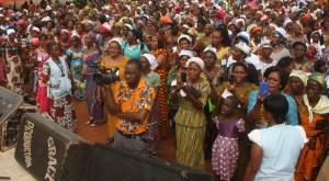 Les fidèles de l'EERI, notamment, les femmes sont sorties massivement pour prendre part  au camp de retraite. Ph. Dr