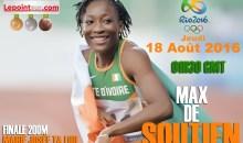Très grippée/ Marie-Josée Talou qualifiée pour la finale du 200m dames des JO #rio2016
