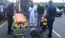 [Côte d'Ivoire Grave accident sur l'autoroute du Nord] Un véhicule de police fait des tonneaux