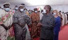 [Visite d'Etat dans le Moronou] Face aux chefs religieux, traditionnels et cadres de la région, Alassane Ouattara prône la paix