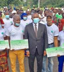 [Côte d'Ivoire Lutte contre le chômage] 900 jeunes de la Marahoué reçoivent leurs chèques