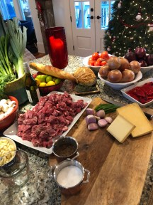 When entertaining large crowds, multiply the recipe and you can have a hearty ready made meal when your guests walk in the door.