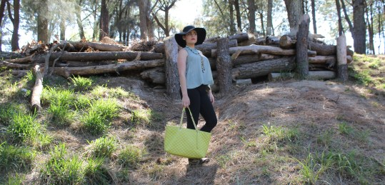 From POST: Black hat, leggings and necklaces