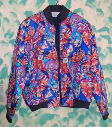 Silk bomber jacket