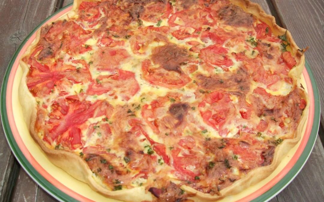 Tarte thon-tomate et moutarde
