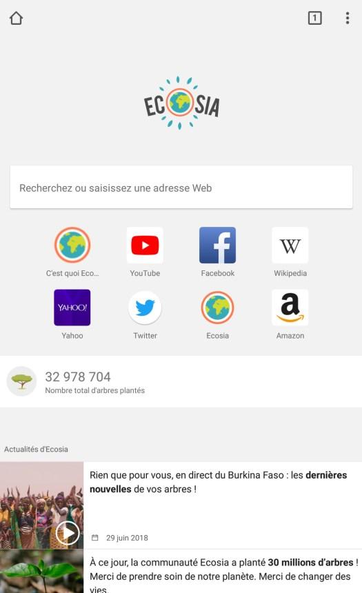Les applications mobiles pour la permaculture urbaine / Ecosia