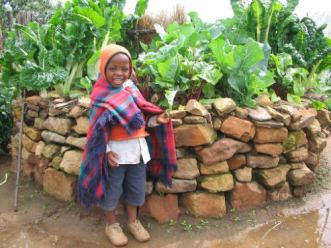 Keyhole garden en Afrique