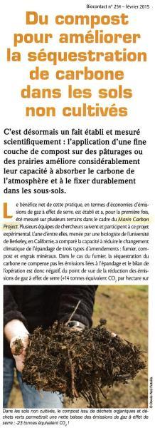 Compost - sequestration du carbone 1