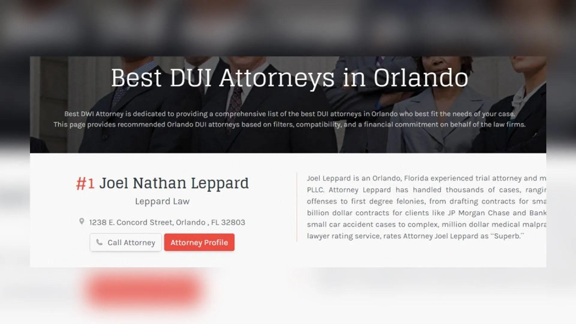 Best DUI Attorney Orlando