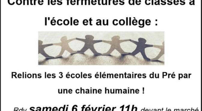 Projet de plusieurs fermetures de classes au Pre Saint-gervais
