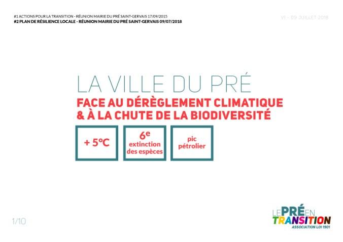 La ville du Pré face au dérèglement climatique & à la chute de la biodiversité