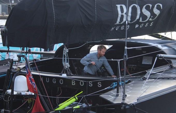 Préparation du l'Imoca d'Alex Thomson (Hugo Boss)