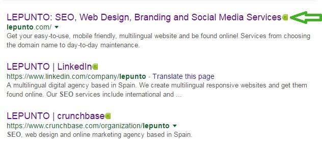 LEPUNTO website marked green by Kaspersky URL advisor