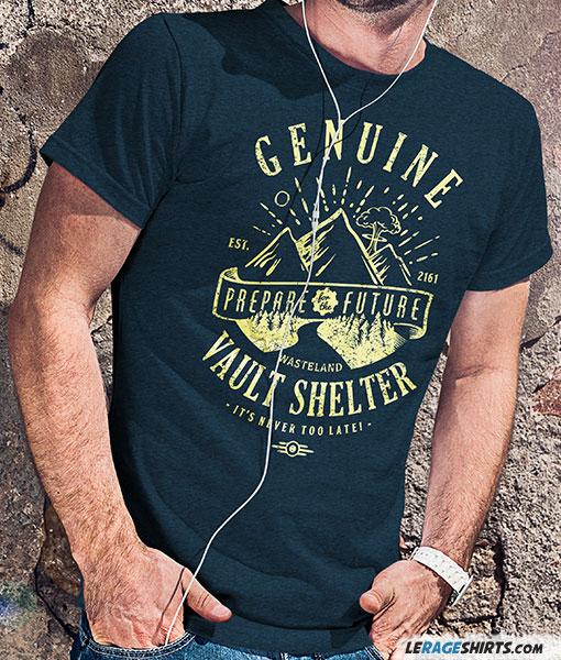 Genuine Vault Shelter  Fallout TShirt