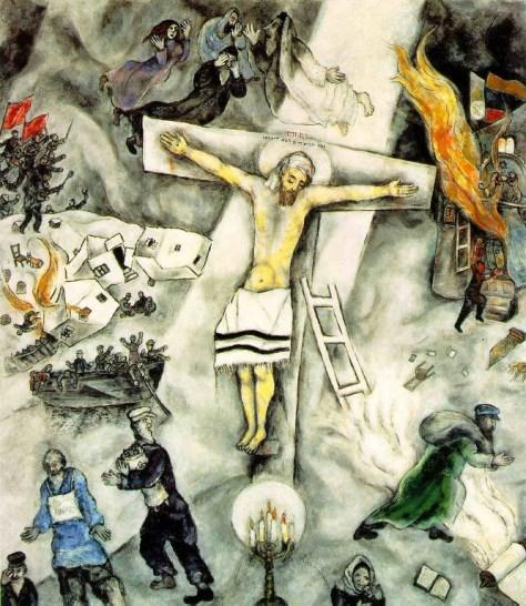 """Marc Chagall, """"La Crucifixion blanche"""""""