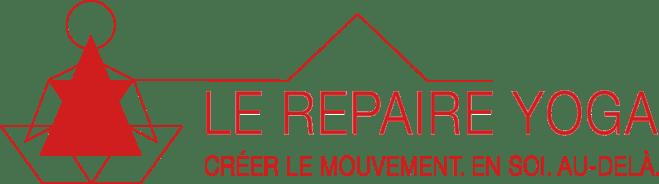 logo du repaire yoga en rouge