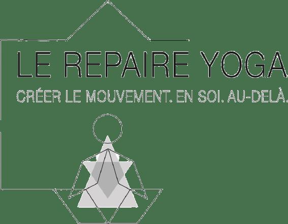 logo du repaire yoga en gris pale