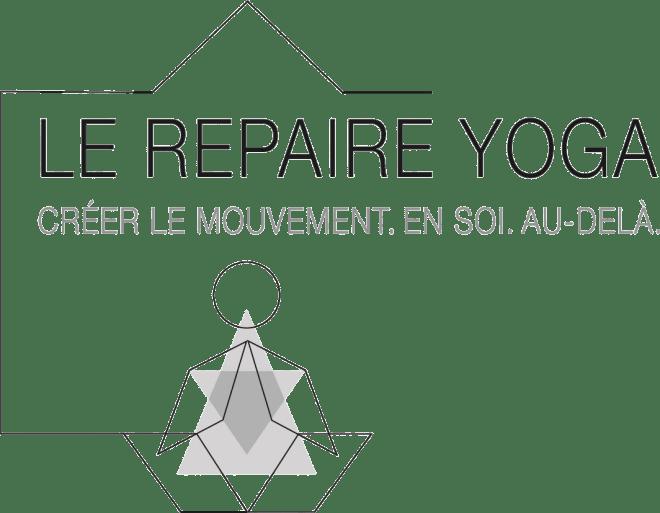logo du repaire yoga en gris fonce
