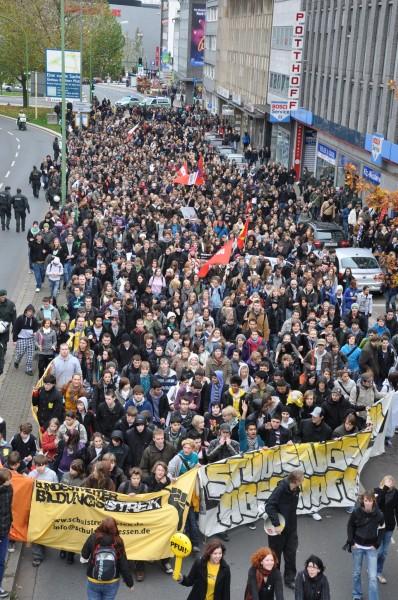 Studentenprotest in Duisland