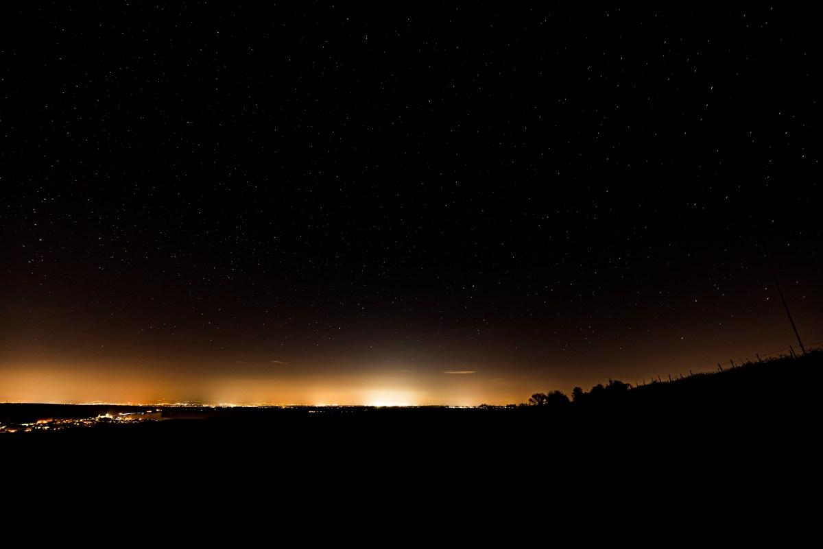 Sternehimmel Richtung Frankfurt. (Foto: Andreas Lerg)