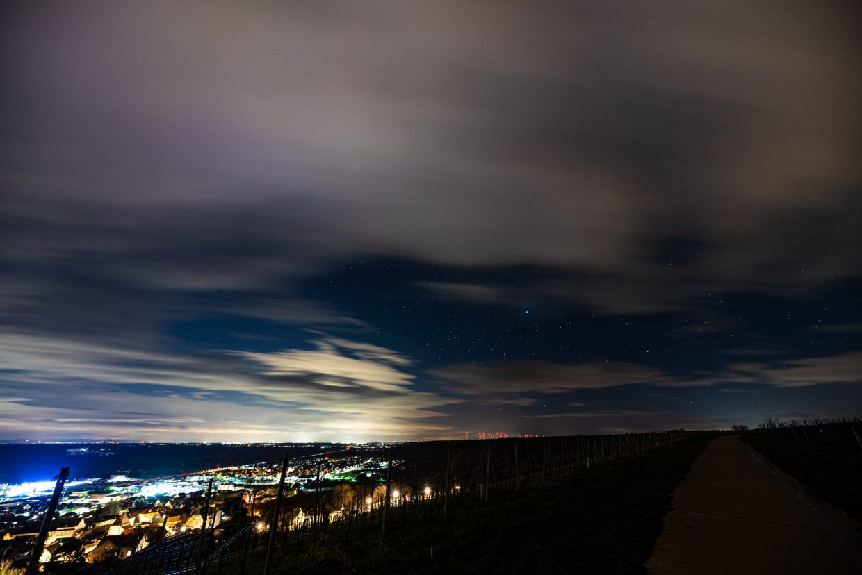 Sternehimmel Richtung Worms. (Foto: Andreas Lerg)