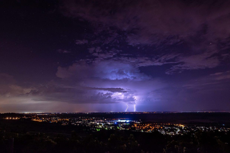 Gewitter über dem Rhein-Main-Gebet. (Foto: Andreas Lerg)