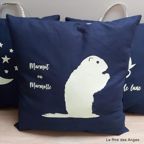 coussin marmot marmotte