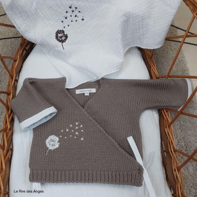 brassiere en laine bebe dendelion