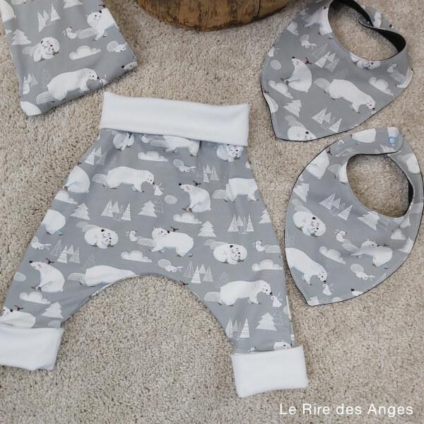 ours polaire pantalon evolutif bebe