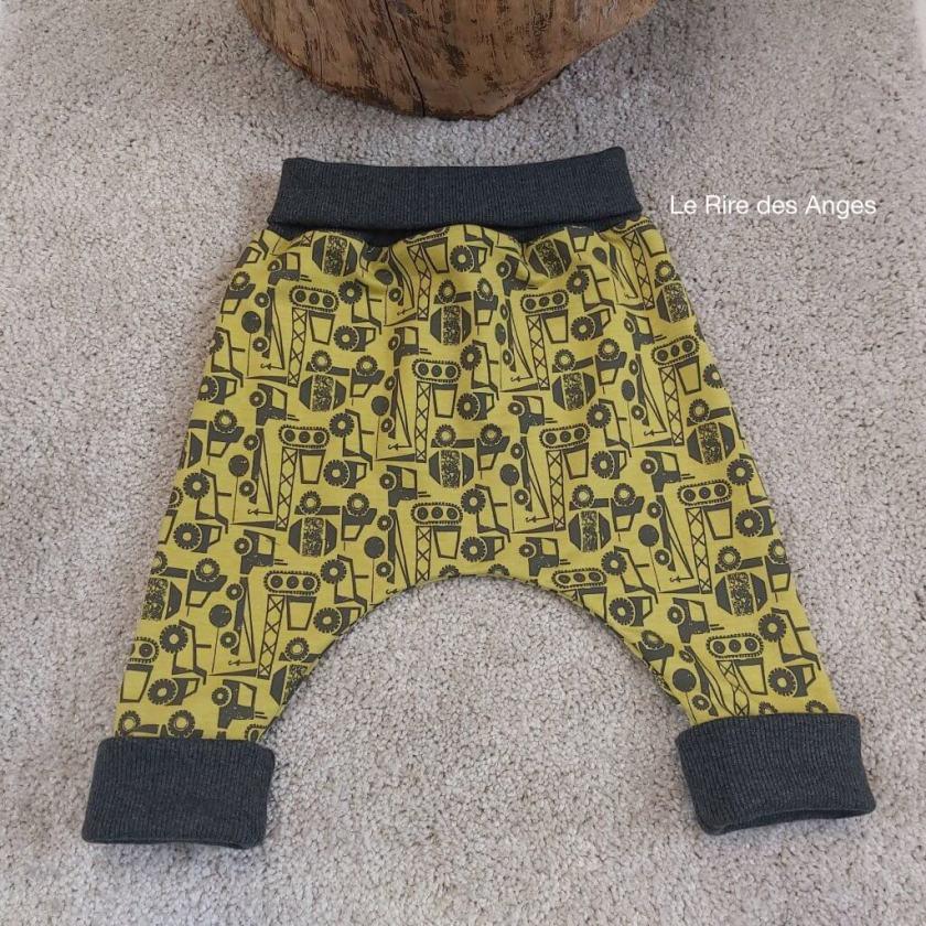 pantalon bebe evolutif tracteur