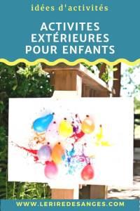 Activites peinture pour enfants exterieur