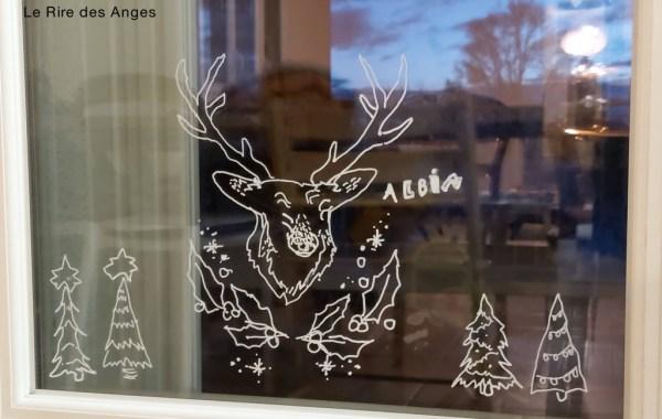 décoration de Noël pour fenêtre