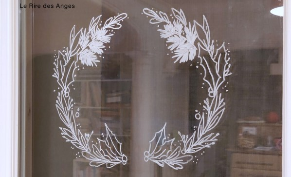 couronne de Noël pour fenêtre
