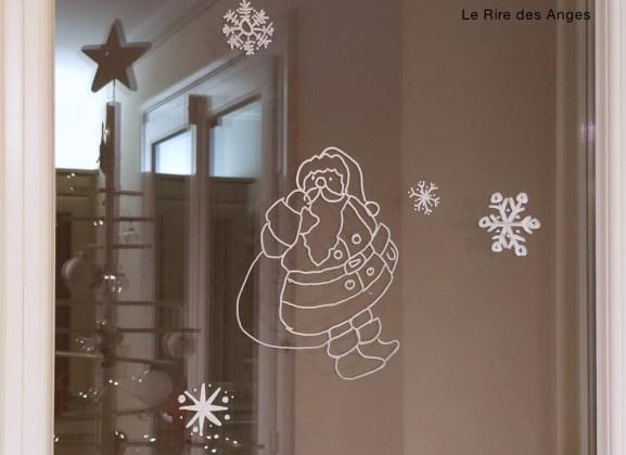 Père Noël et flocons