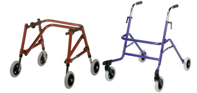 Pediatric Folding Walker Wheels