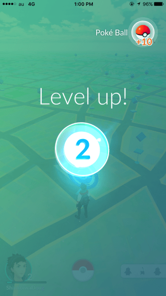 As you catch more Pokemon your level goes up.