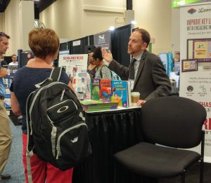Lerner digital booth and ebooks at ISTE
