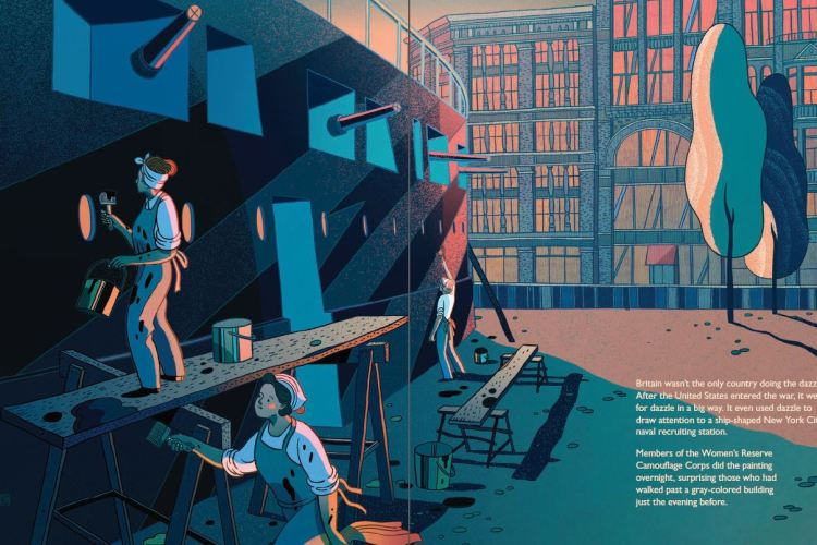 Dazzle Ships by Chris Barton and Victo Ngai spread