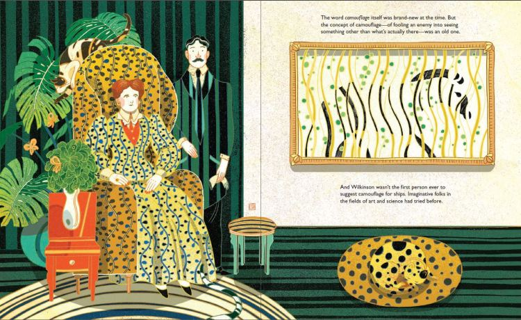 Spread from Dazzle Ships by Chris Barton and Victo Ngai