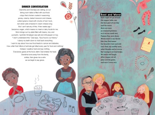 spread from Can I Touch Your Hair by Irene Latham and Charles Waters