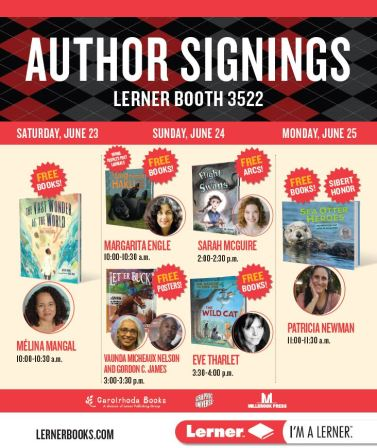 ALA author signing poster