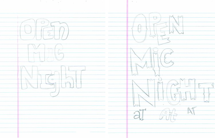 Open Mic Night_sketches_design