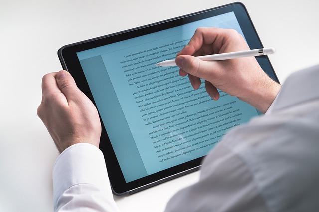 Arbeiten mit iPad, Noteneingabe mit dem Tablet
