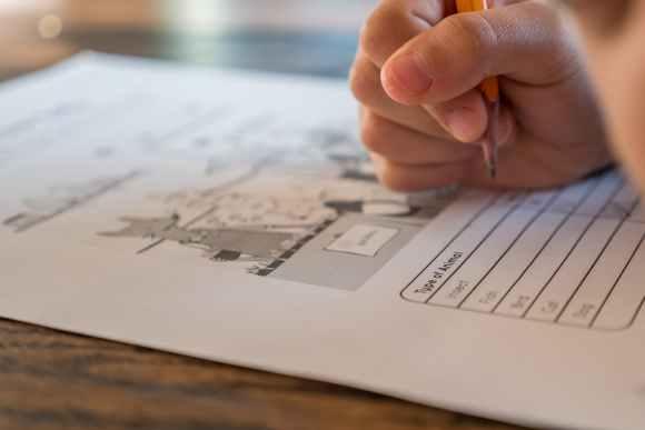 schoolchild solving elementary science test zp 10 notenvergabe,