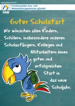 FAW_Guter Start in das Schuljahr 2017-18